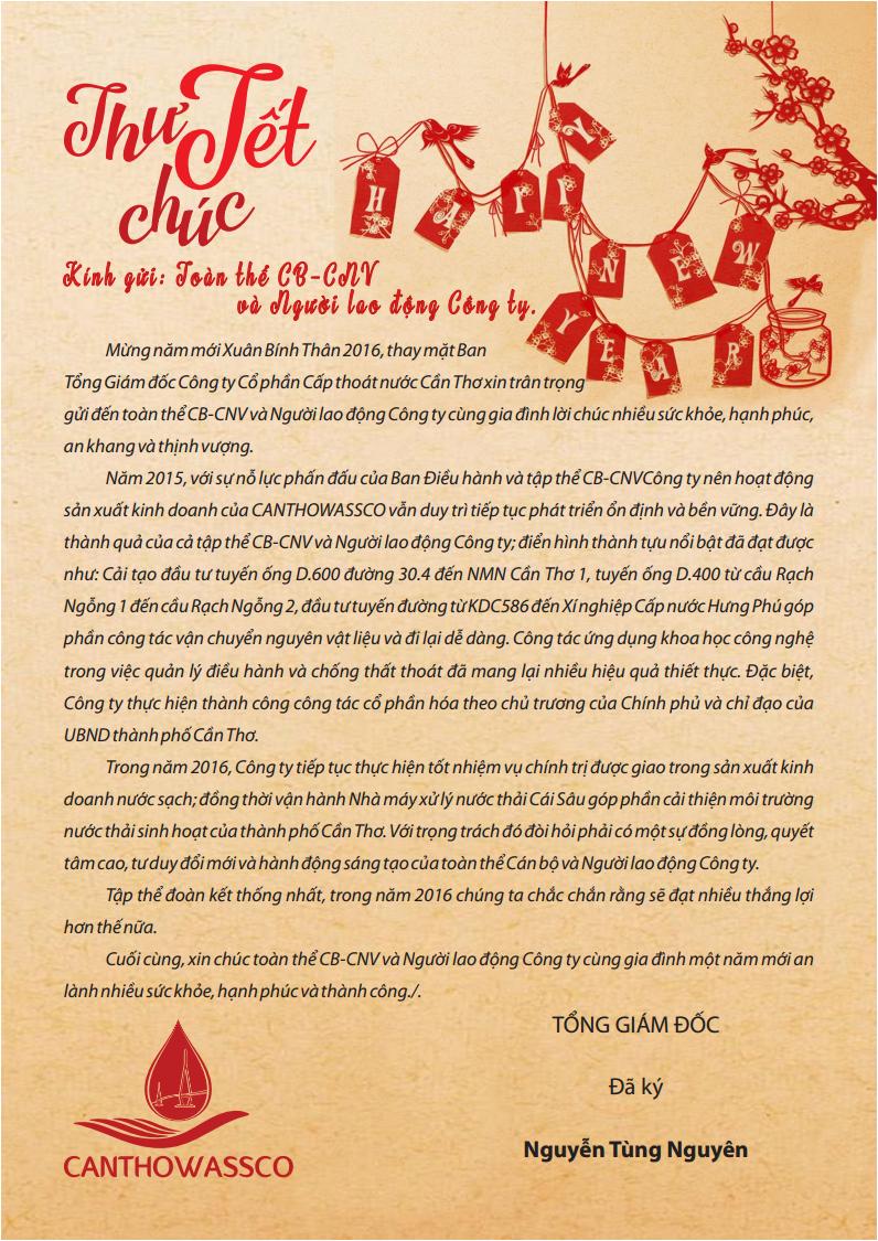 Viết thư cho người thân thăm hỏi và chúc mừng năm mới ...